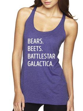 2b9d342a4689b Product Image New Way 873 - Women s Tank-Top Bears Beets Battlestar  Galactica Office Jim XS Navy
