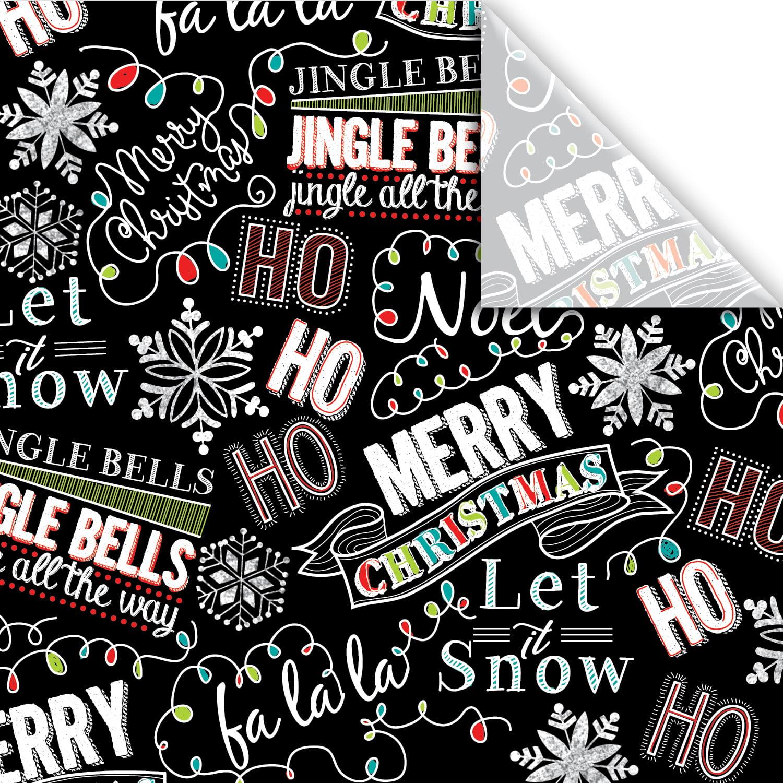 "Jillson & Roberts Printed Gift Tissue 20"" x 30"", Christmas Chalk (240 Sheets)"