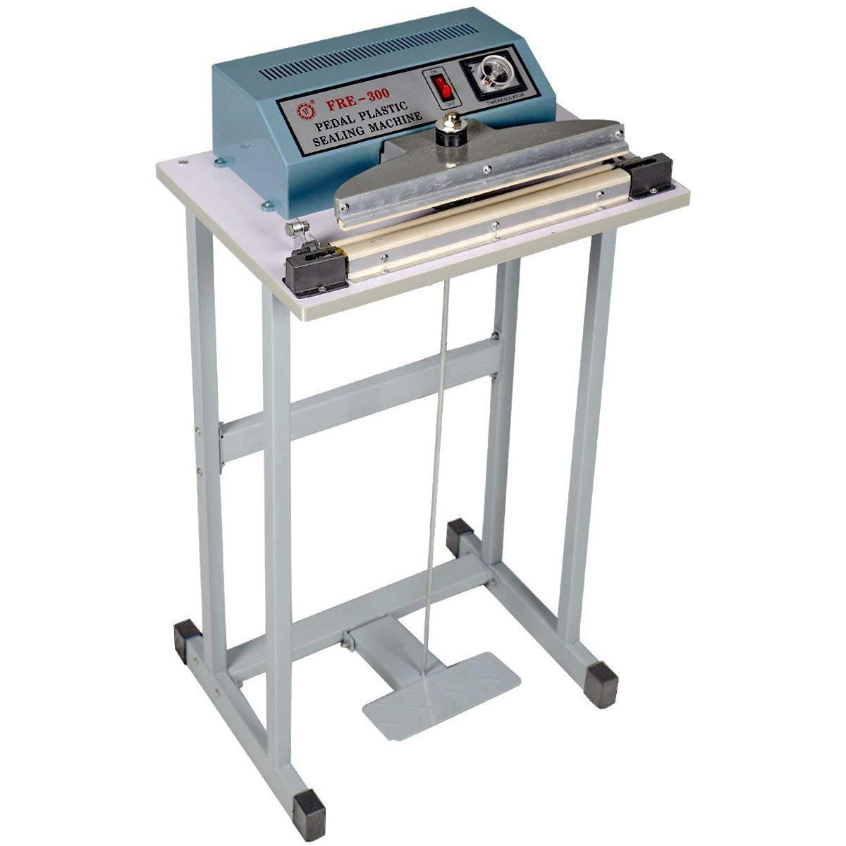 """Zimtown 12"""" Foot Pedal Impulse Sealer, 110V Feet Operated Heat Sealing Machine for Closing Plastic Bag, Food Saving, Good for Inductrical and Commercial Application"""