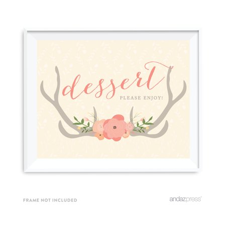 Dessert Table Woodland Deer Wedding Party Signs