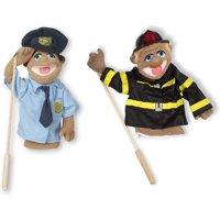 Melissa & Doug Puppet Bundle - Police Officer and Firefighter