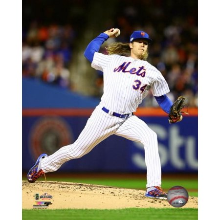 Noah Syndergaard 2016 National League Wild Card Game Action Photo Print