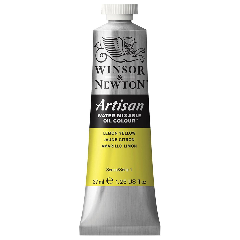 Winsor & Newton Oil Paint: Water Mixable, Lemon Yellow, 37 mL