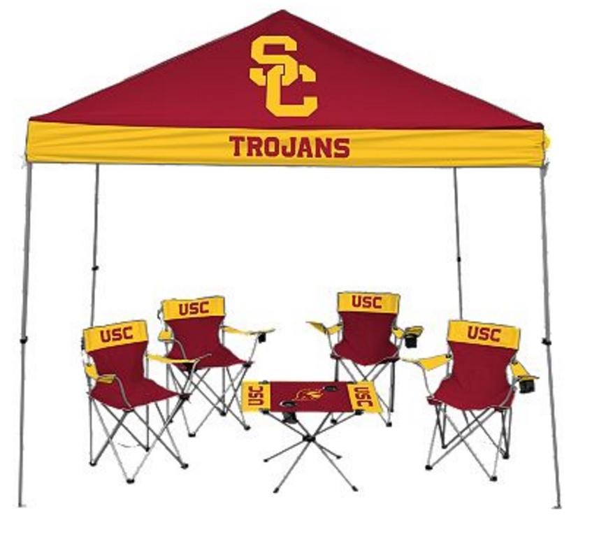 University of Southern California USC Trojans Tailgate Kit - Canopy - 4 Chairs