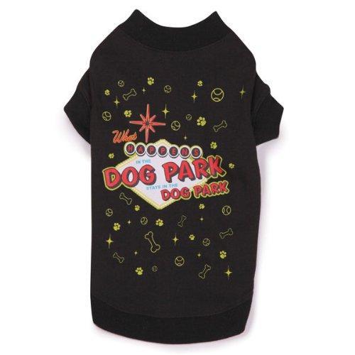 Casual Canine Dog Park Tee BLACK LARGE