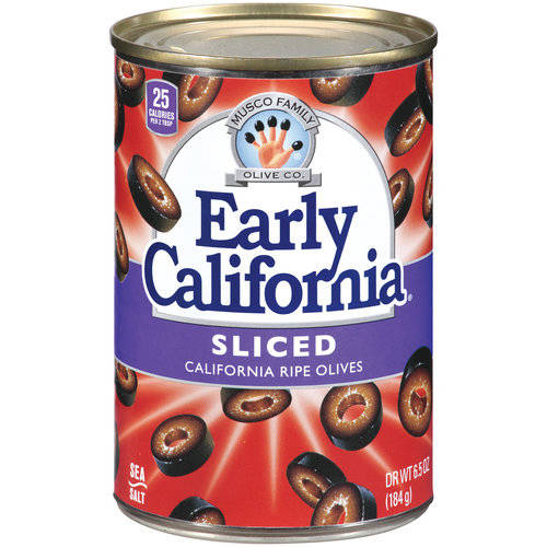 Musco Family Olive Co. Early California Sliced California Ripe Olives, 6.5 oz