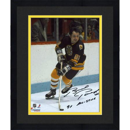 competitive price c4cf4 ca763 Framed Brad Park Boston Bruins Autographed 8