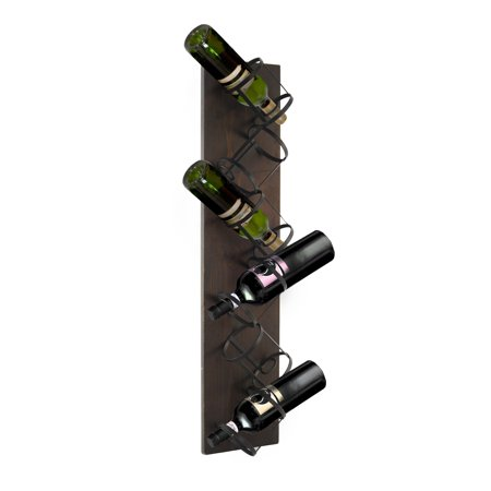 Legacy Home Dark Bronze and Mahogany finish wine rack ()