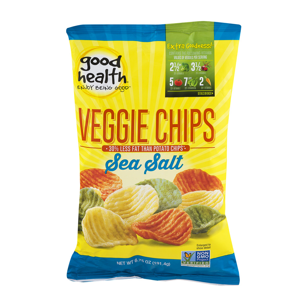Good Health Veggie Chips Sea Salt, 6.75 OZ