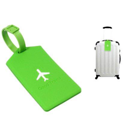 Flexible Portable Information Cards Name Labels for Traveling PVC Luggage Tag