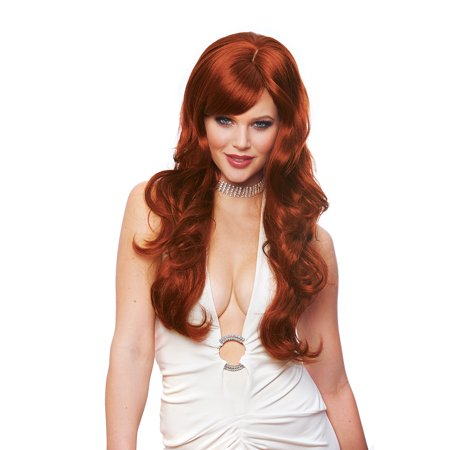 Adult Delovely Long Natural Red Wig byFranco American Novelties 24919-07 (Novelty Wig)