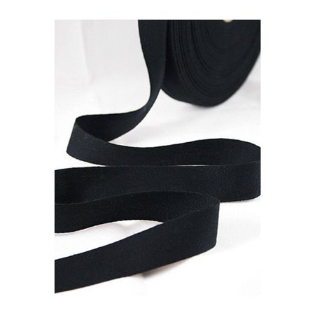 Bias Transfer Roll (Twill Tape 100% Cotton Black 50 Yard Roll 3/4