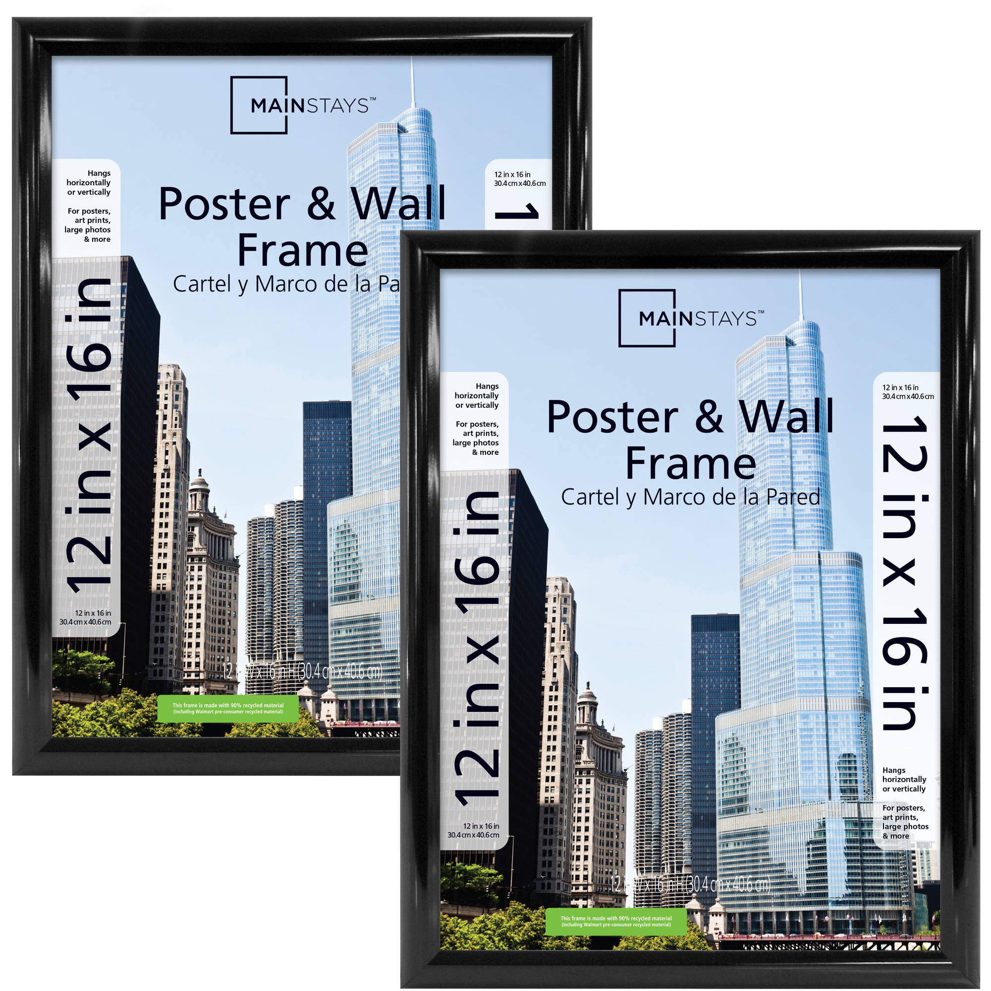 Mainstays 12x16 Trendsetter Poster Frame Set Of 2