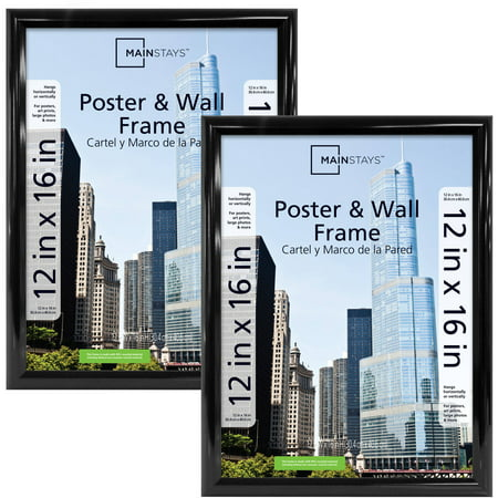 Mainstays 12x16 Trendsetter Poster Frame, Set of (12x16 Picture Frame)
