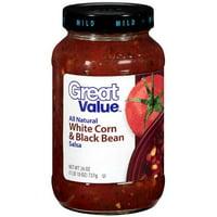 Great Value White Corn & Black Bean Salsa, 26 oz