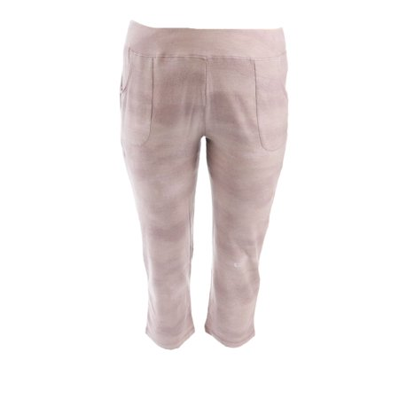 LOGO Lounge Lori Goldstein French Terry Ombre Crop Pant A274121 French Terry Crop Lounge Pant