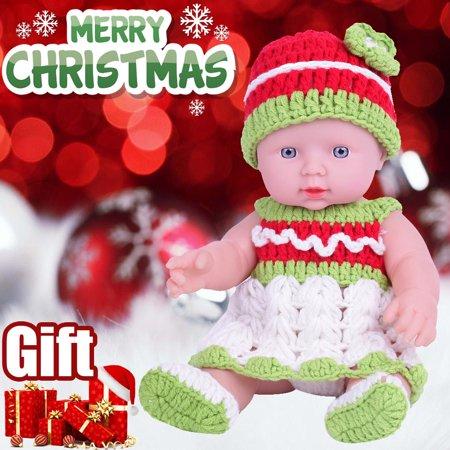 2019 HOTSALES Lifelike 12 inch Christmas Dolls Washable Soft Body Bbay Play Dolls Toy Gift ()