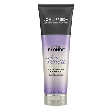 John Frieda Sheer Blonde Colour Renew Tone Correcting Shampoo 8.45 oz (Purple Shampoo And Conditioner)