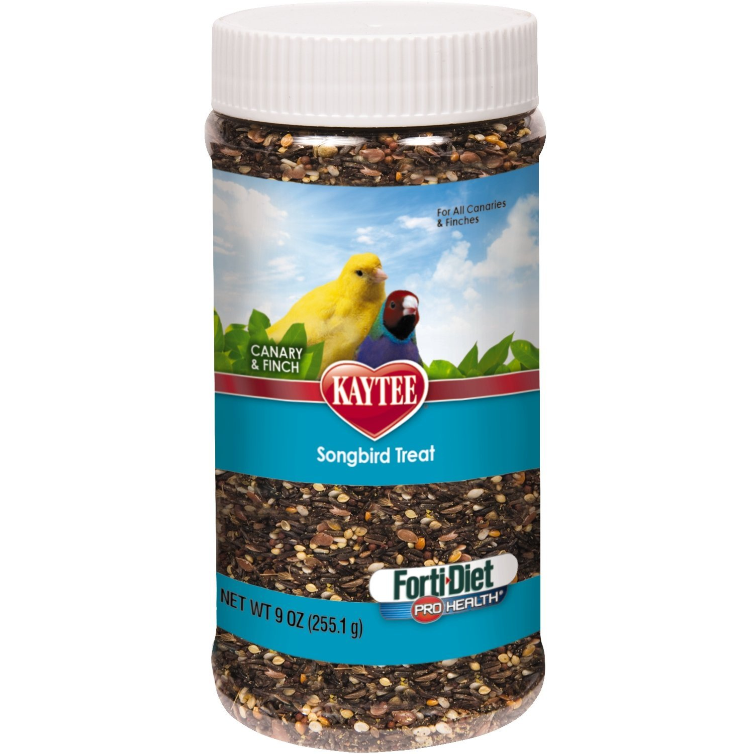 Forti-Diet Pro Health Canary and Finch Songbird Treat, 9-oz jar, Tasty, Nutritious Treat By Kaytee