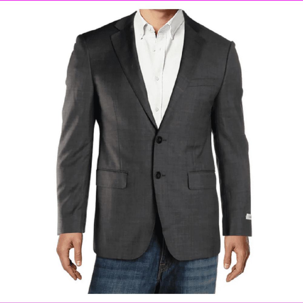 Calvin Klein Men's Extreme Slim Fit Blazer, Grey, Size 38S