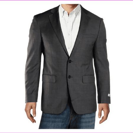 Calvin Klein Mens Extreme Slim Fit Blazer, Grey, Size 38S