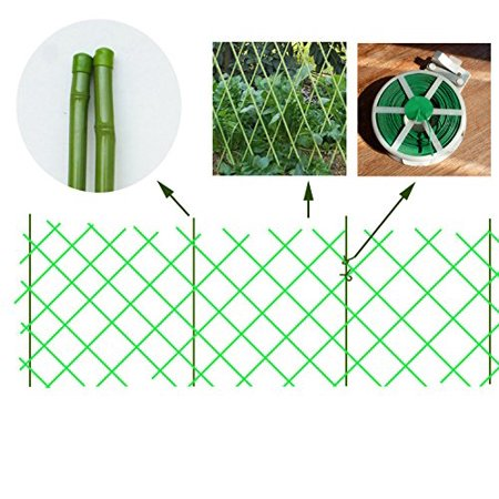 V Protek Green Artificial Bamboo Privacy Fence , Indoor/Outdoor Wall Decoration
