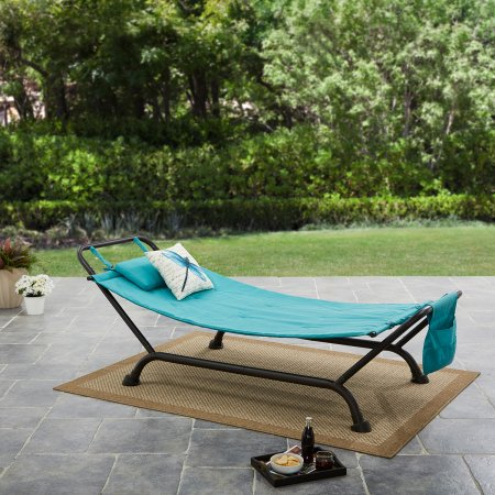 Captivating Mainstays Forest Hills Outdoor Hammock   Reversible Red/Red Stripe    Walmart.com