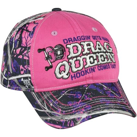 Muddy girl camo drag queen ladies fishing cap misc for Fishing hats walmart