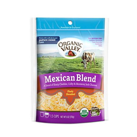 Pack of 2 - Organic Valley Mexican Blend Shredded Cheese, 6