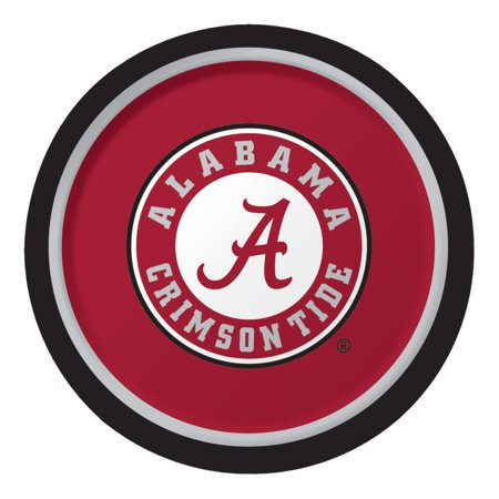 Club Pack of 96 NCAA University of Alabama Crimson Tide Paper Party Dinner Plates 9