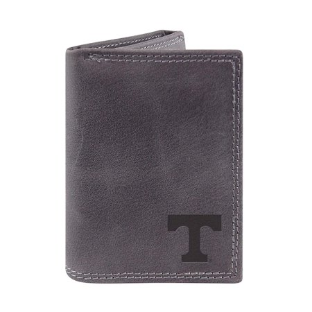 Tennessee Volunteers Grey Embossed Leather Tri-Fold Wallet Leather Tennessee Titans Tri Fold Wallet