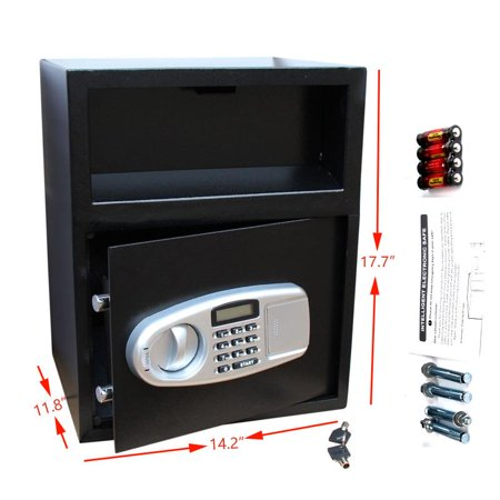 Digital Drop Depository Safe - Ktaxon Digital Electronic Keypad Lock Home Safe Box Depository Drop Deposit Front Load Cash Vault Lock Jewelry