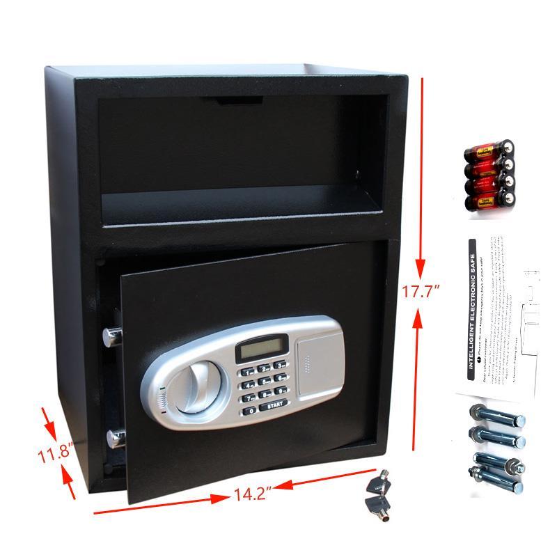 Ktaxon Digital Electronic Keypad Lock Home Safe Box Depository Drop Deposit Front Load Cash Vault Lock Jewelry
