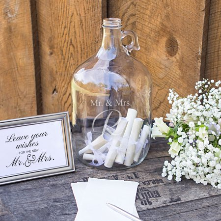 Personalized Mr. & Mrs. Wedding Wishes in a Bottle Guest Book