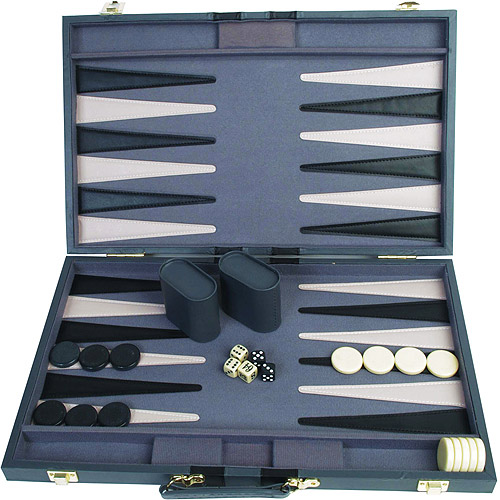 "Classic Games Collection 21"" Attache Backgammon Set"
