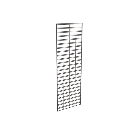 Econoco Slat Grid Panel for Display â Metal Slat Grid Perfect for Any Retail Display, 2â Width x 6â Height, 3 Grids Per Carton (Black)