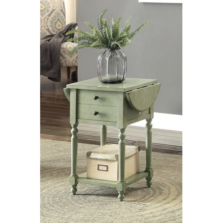 furniture of america wenslo farmhouse gray drop leaf side table. Black Bedroom Furniture Sets. Home Design Ideas
