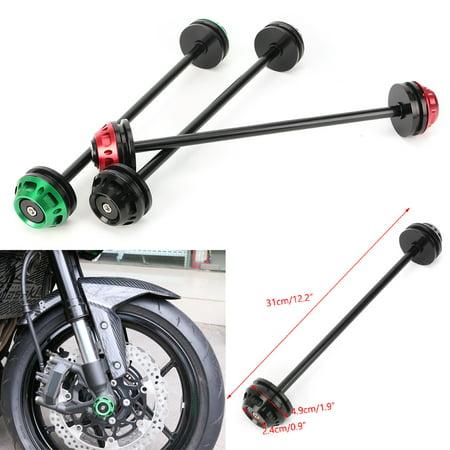 Fork Slider Protectors (GZYF Motorcycle Aluminum Front Rear Axle Fork Sliders Crash Protector For Kawasaki Z800 Z1000 )