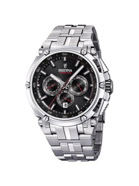 Festina F20327-6 Mens Chronobike Black Dial Stainless Steel 44mm Watch