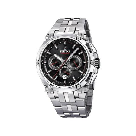 Festina F20327-6 Mens Chronobike Black Dial Stainless Steel 44mm Watch