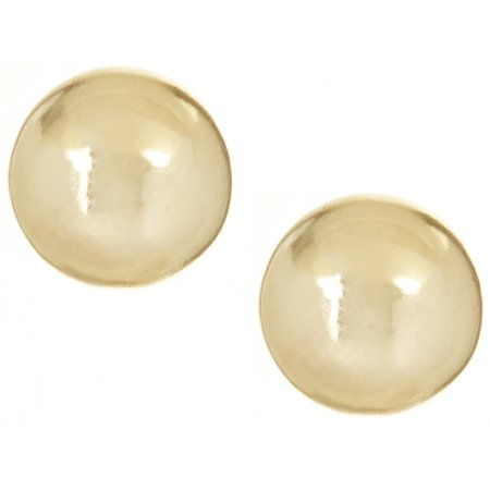Signature 18K Gold Plated 5mm Ball Stud Earrings One Size