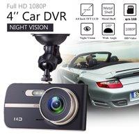 """170° FHD 1080P 4"""" Night Vision Front + Backup Rearview Car Dash Cam Dashboard Driving Video Recorder Kit Parking Monitor Camera DVR for Vehicle Car WDR, Loop Recording G-Sensor"""