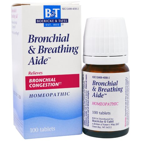 Boericke Tafel Bronchial Breathing Aide Tablets 100 Ct
