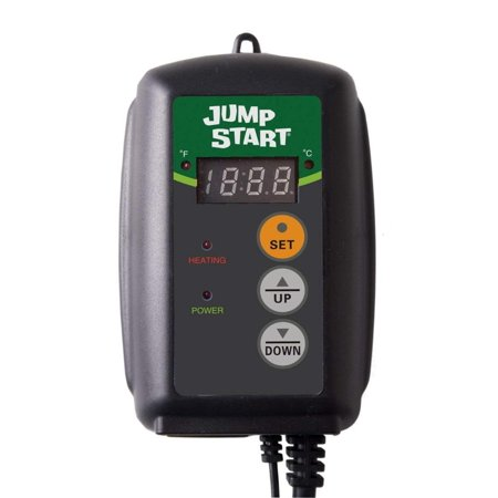 Jump Start MTPRTC Digital Controller Thermostat For Heat Mats, Seed Germination, Reptiles and Brewing, The only safety ETL certified thermostat on.., By Hydrofarm