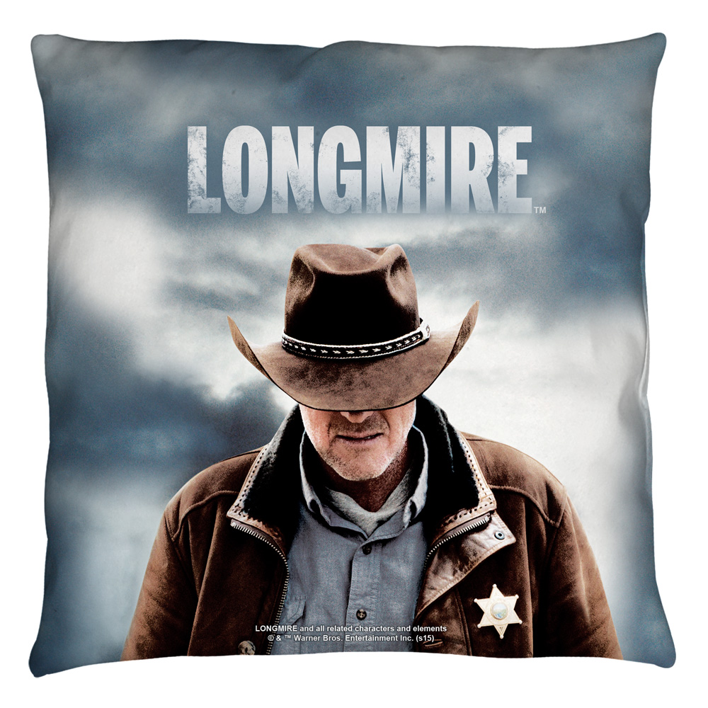 Longmire Sheriff Throw Pillow White 18X18