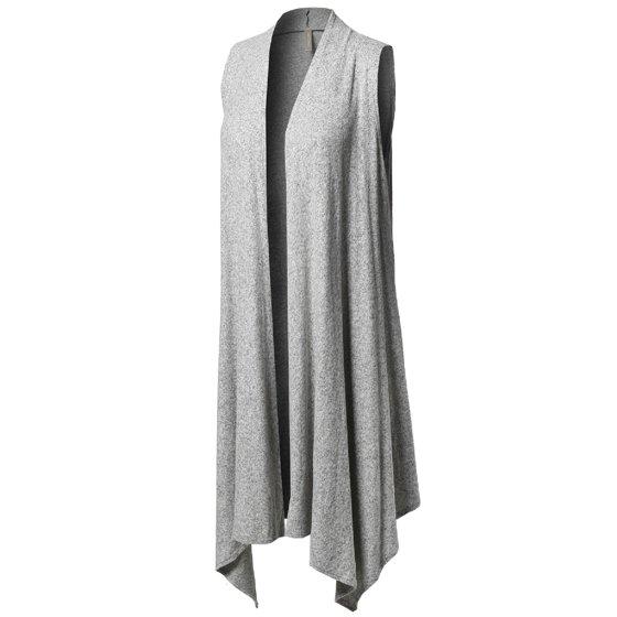 af7b563b316a74 FashionOutfit - FashionOutfit Women s Solid Sleeveless Asymmetric ...