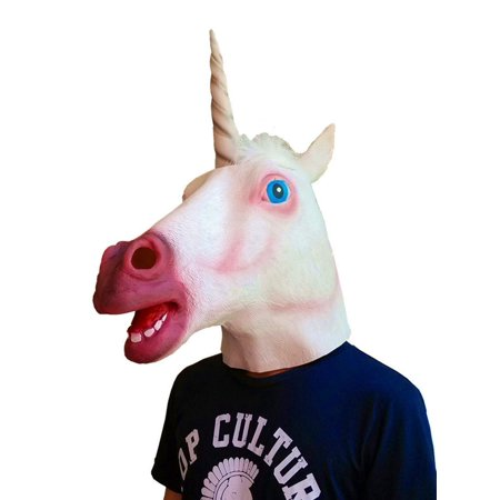 Gmasking Latex Unicorn Horse Mask NEW Version