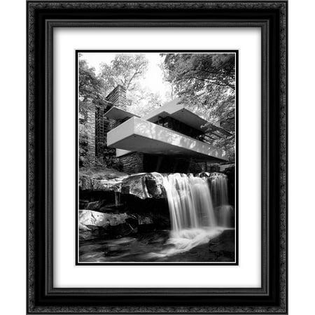 Fallingwater 2x Matted 20x24 Black Ornate Framed Art Print By Frank