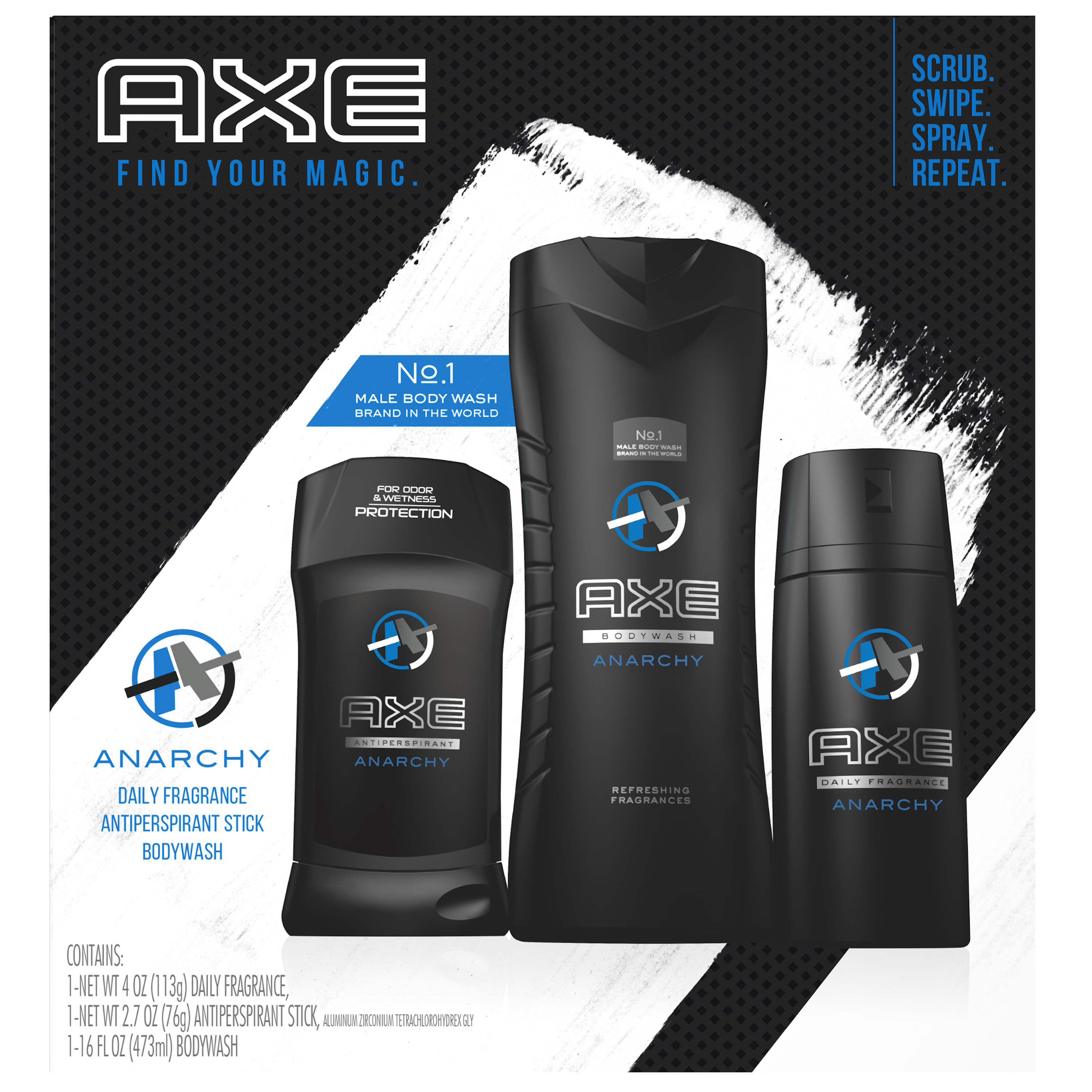 AXE Regimen Gift Set for Men Anarchy 3 pc