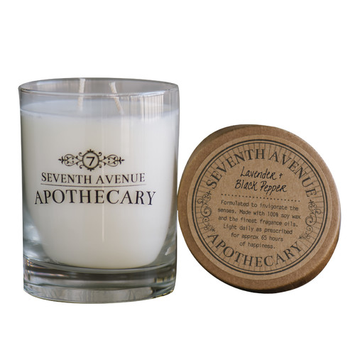 Seventh Avenue Apothecary Lavender and Black Pepper Candle